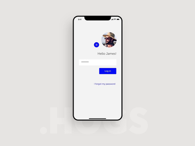Login process - HOGS welcome mobileapp mobile ui interaction animation productdesign shipping map maps transport logistics transportation product freight webapp app android ios mobile login