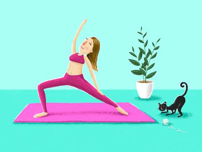 Yoga yoga digital drawing illustration