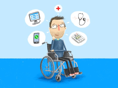 Health Info digital drawing illustration