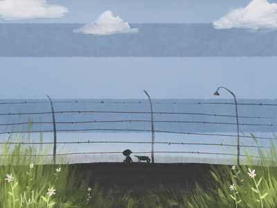 The Boy in the Striped Pyjamas book cover illustration