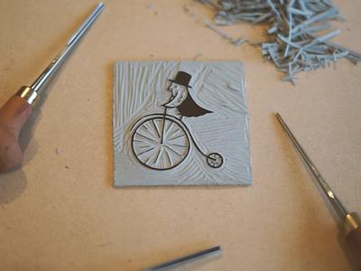 Linocut to Logo illustrator photoshop linocut printmaking logo digital drawing illustration