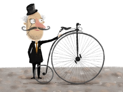 Penny Farthing procreate bicycle penny farthing concept art character design illustration