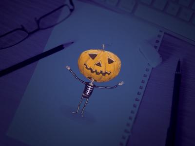 Mr Jack 'O' Lantern  halloween illustration