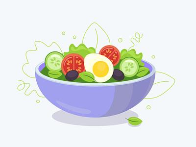 salad мило вкусно salad логотип иконки illustration