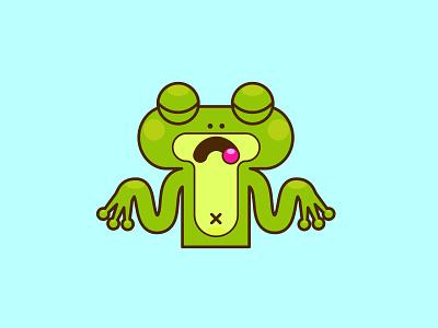 frog значок смайл минимализм милый весело забавный мило лягушонок лягушка логотип design иконки illustration