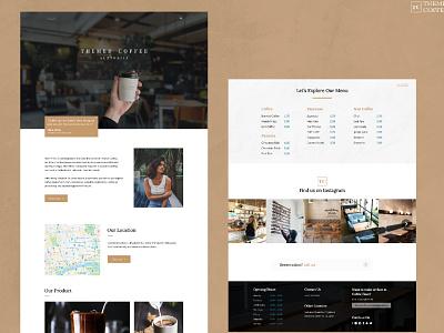 Themed Coffee Landing Page minimalist minimalism web ui design