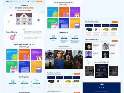Landing Page BCA Expoversary 2021 bca web anniversary wireframe web design landing page ui