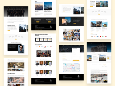 Pilar Corporation Company Profile landing page wireframe web design web website company profile