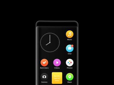 Concept Phone blck os concept redesign operating system