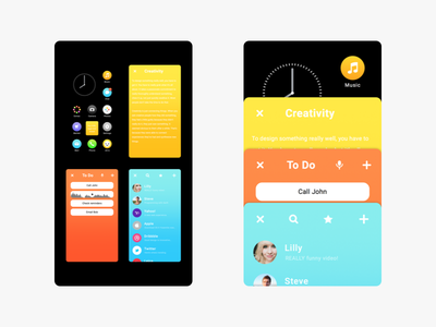 Overview and Switch blck os concept redesign operating system