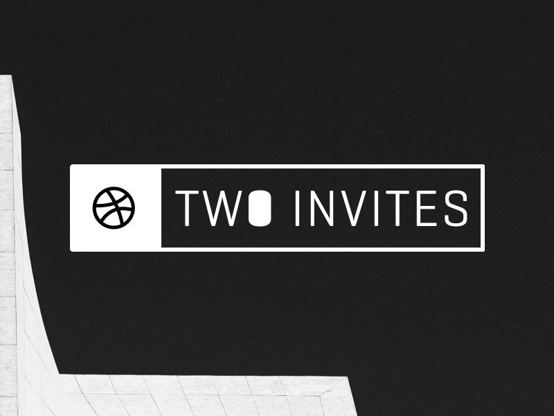 Two Dribbble Invites framerjs invites dribbble