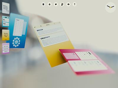 Augmented Reality: Focus Mode 3d ui 3d paper design blck concept os vr ar blckos