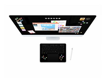 Virtual Keyboard virtual keyboard mouse keyboard concept vector os blck paper design concept operating system blckos