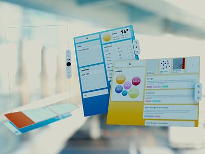 AR Interface II vr paper design concept os blckos blck ar 3d ui 3d