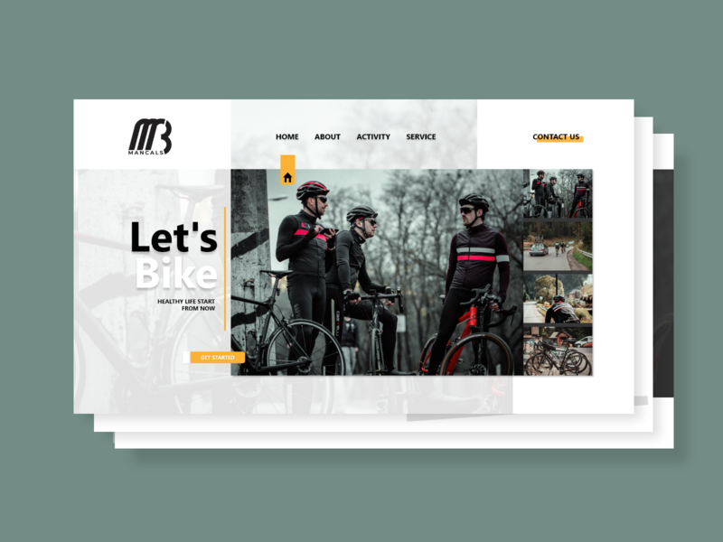 Mancals Web Design transition userinterface uidaily bike bicycle firstshot webdesign branding ui ux uxdesign uidesign