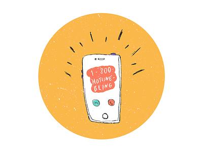 RVA Biking Sticker #4 rva richmond hand-drawn drawing biking hotline bling drake iphone illustration icon sticker