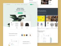 Bonfire Stores t-shirts online shop e-commerce slider features hero ui website landing page shop online store