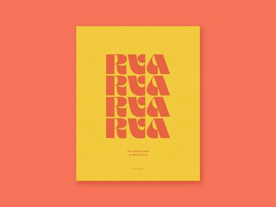 RVA Print poster 70s serif supply print vintage typography pattern richmond rva