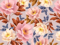 Floral seamless pattern for surface design