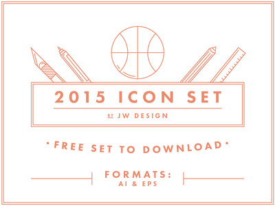 Free Download — Icon Set 2015 free download icons vector illustrator new year 2015 ui ux