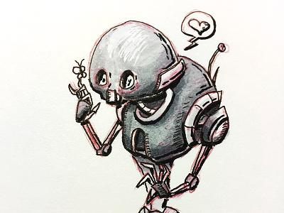 CUTE-2SO doodle cute rogue one k2so copic sketch robot star wars