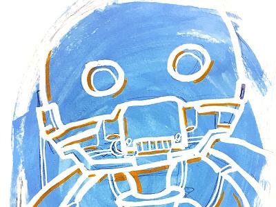 K-2SO Paint rogue one marker posca disney droid robot negative paint star wars