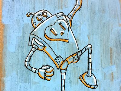 Posca Robot cartoon original character ink paint marker posca robot