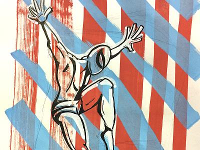Spiderman megacon ink paint super hero disney marvel posca spider-man