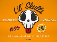 Lil' Skulls Enamel Pin