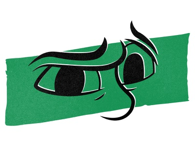 Envy posca marker ink photoshop texture illustration abstract face expression eyes