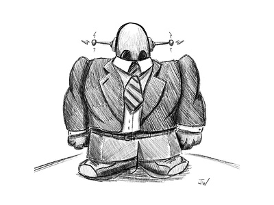 Boss-Bot tps reports marketing sales business ipad procreate robot