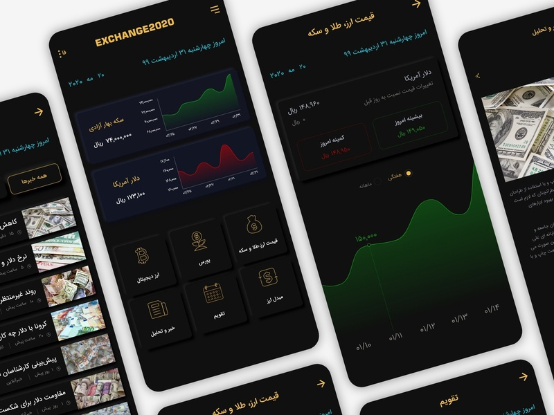 exchange2020 design mobile google pay dollar userinterface neomorphism financial finance money exchange dark app icon ux ui