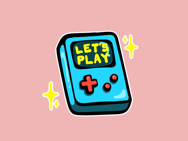 Let's play gamer game games stars draw sketch gameboy dandy illustrator sticker mushroom illustration drawing design character animation character animation vector digitalart play