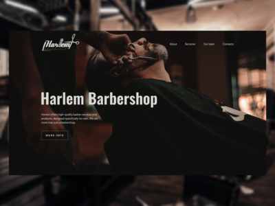 Harlem Barbershop figma homepage clean ui color web design barber concept ui  ux ui design website design web design