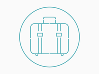 Luggage Line Icon