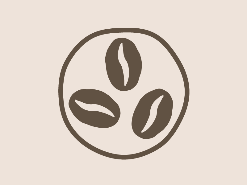 Simple Coffee Bean Icon/Logo logo icon bean coffee