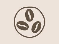 Simple Coffee Bean Icon/Logo