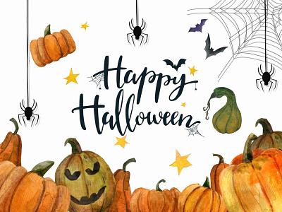 watercolor halloween-themed background, fabulous, magical, for logo vector animation branding графика рисунок иллюстратор печать паттерн обложка осень открытка хэллоуин typography illustration