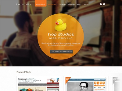 Hop Studios Redesign 2012 hop studios redesign website duck home view