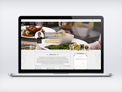 La Belle Assiette — Profile page website webdesign cuisine food search results texture tags profile
