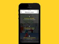 Tourism App – Home screen