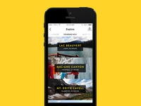 "Tourism App – ""Explore the town"" listing"
