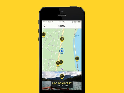 Tourism App – Map view tourism app iphone travel guide ios map plan
