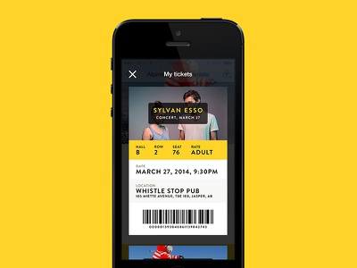 Tourism App – Tickets listing ios guide travel iphone app tourism ticket passbook concert