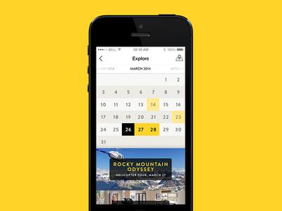 Tourism App – Events calendar