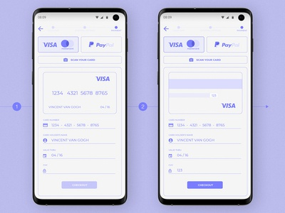 100 days of UI Challenge | 002 Card Checkout