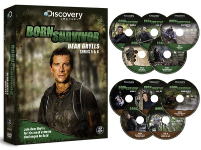 Born Survivor Bear Grylls Series 5 & 6 Packaging bear grylls discovery channel tv television packaging series adventure cd dvd cover discovery channel