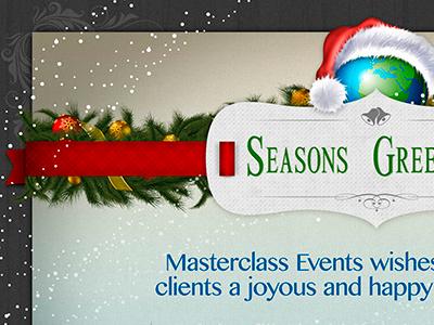 Christmas Card christmas xmas card snow santa winter red ribbon bow holly decorations globe bells trees stars sparkle texture