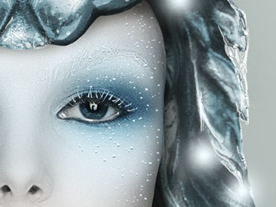 Ice Queen ice snow photo-manipulation blue white frost
