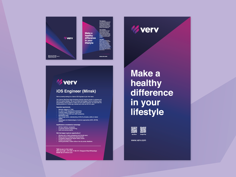 Branding for conference brochure poster roll-up vector branding flat design